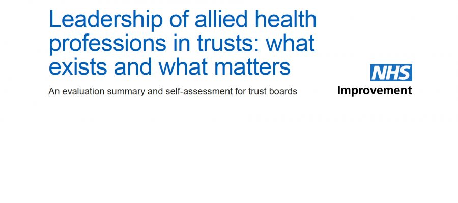 Leadership of AHPs in Trusts