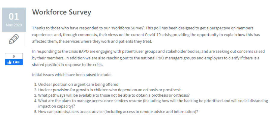 Workforce Survey